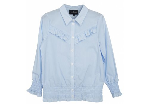 Little Remix LR Cali Ruffle Shirt, Light Blue