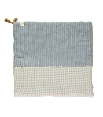 Camomile London Limited Edition Hand Woven Graph Check Blue/Natural