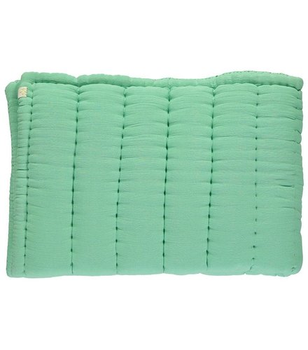Camomile London Hand Quilted Blanket  Arsenic