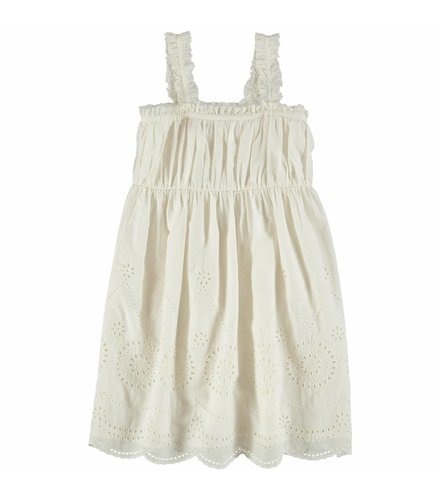 Stella McCartney Kids Anemone Woven Dress White