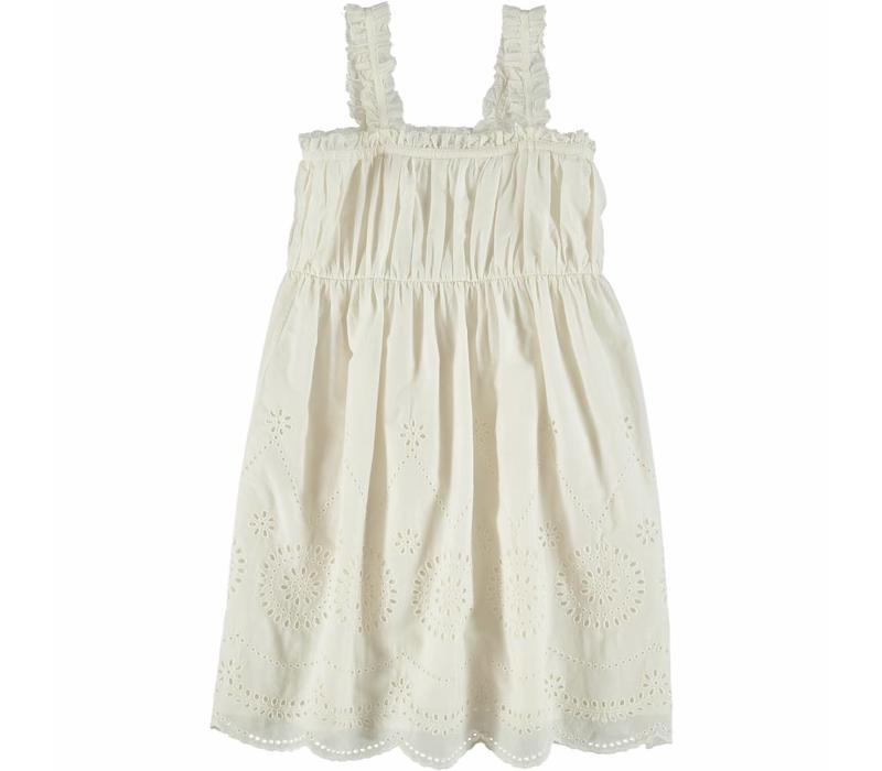 Anemone Woven Dress White