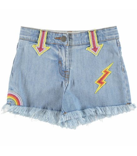 Stella McCartney Kids Marlin Girl Shorts Denim
