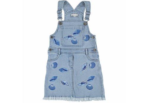 Stella McCartney Kids Sunflower W Dress Denim Shells Embro