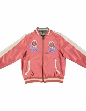 Stella McCartney Kids Willow Girl Bomber Jacket Rasberry