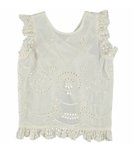 Stella McCartney Kids Moss Girl Em Blouse White