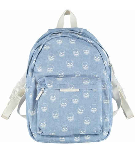 Stella McCartney Kids Bang Back Pack Denim  W/Aop Skulls