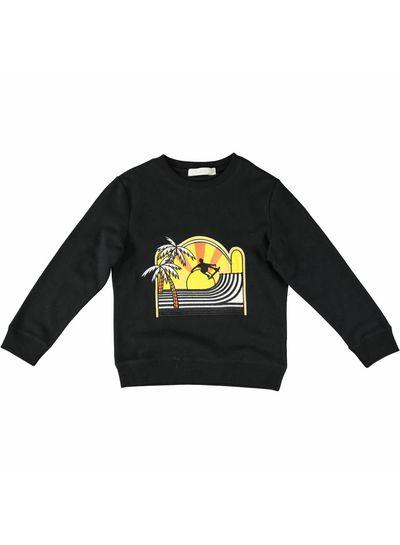 Stella McCartney Kids Biz Sweater Black W/Skate Patch