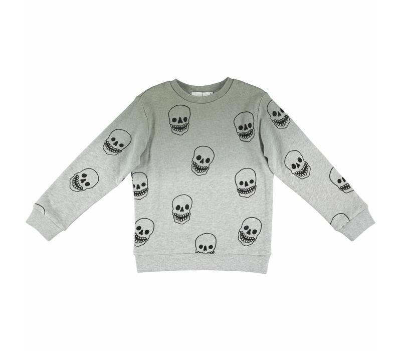 Biz Sweater Khaki W/Skull P