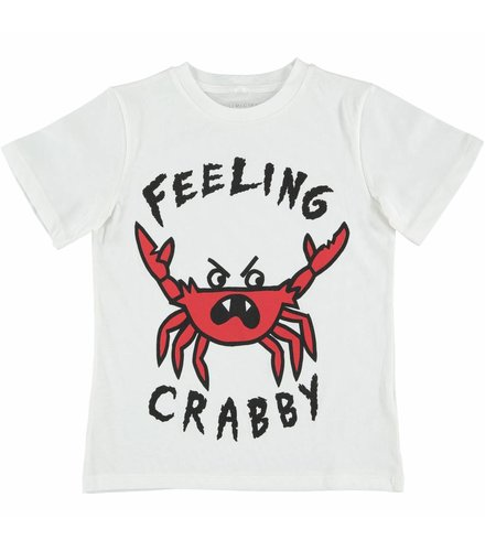 Stella McCartney Kids Arlo T Shirt White W/Feeling Crabby Pr