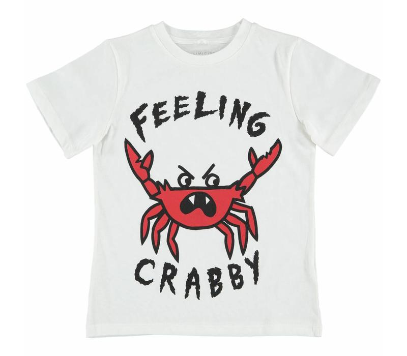 Arlo T Shirt White W/Feeling Crabby Pr