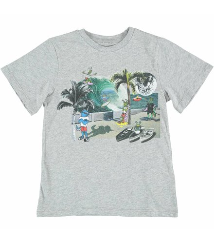 Stella McCartney Kids Arrow T Shirt Thunder W/Mutant Pr