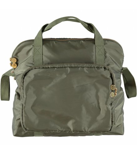 Stella McCartney Kids Fern Diaper Bag Croc Khaki