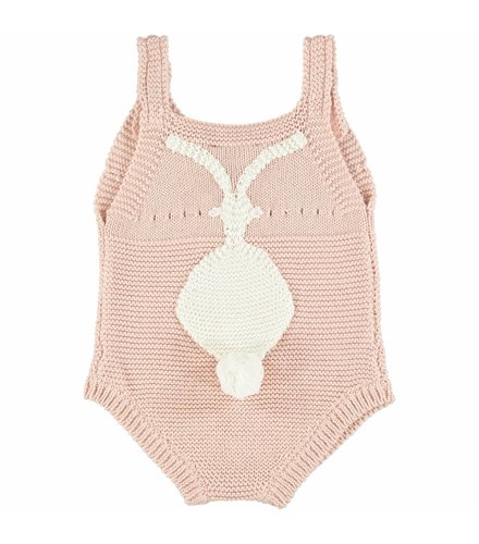 Stella McCartney Kids Bunny Romper Dusky Rose