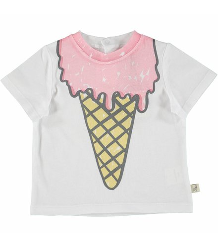 Stella McCartney Kids Chuckle T Shirt White Icecream