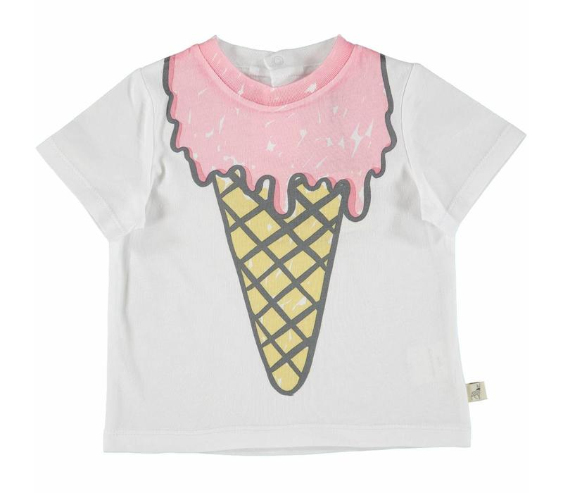 Chuckle T Shirt White Icecream