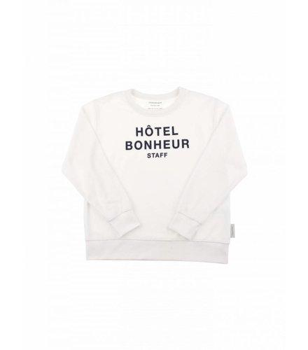 Tiny Cottons Hotel bonheur staff towel sweatshirt