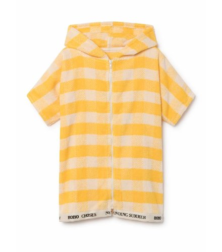 BOBO CHOSES Yellow Vichy Poncho