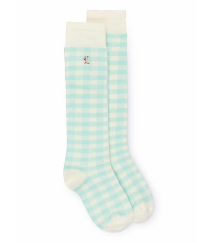BOBO CHOSES Green Vichy Socks