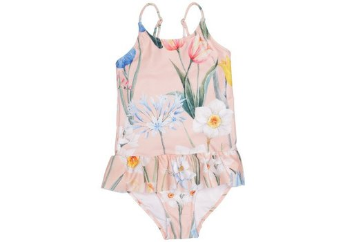 POPUPSHOP Ruffles Swimsuit Flower
