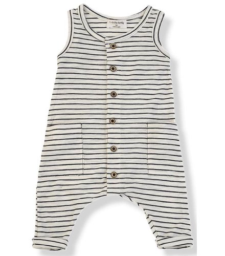 1 + More in the Family MONDRIAN jumpsuit blu notte