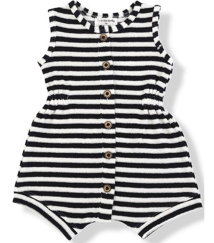 1 + More in the Family TATI rompers blu notte