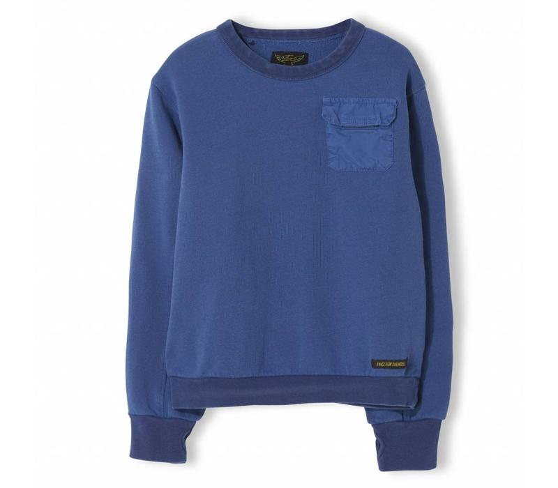 Brian Indi Blue - Boy Knitted Crew Neck Sweatshirt