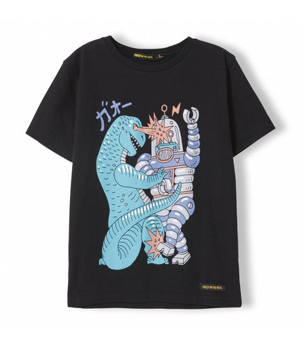 Finger in the nose Dalton Black Bad Toys - Boy Knitted Jersey Short Sleeve T-Shirt