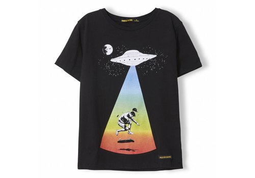Finger in the nose Dalton Black Ufo - Boy Knitted Jersey Short Sleeve T-Shirt