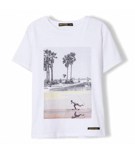 Finger in the nose Dalton White Summer Skate - Boy Knitted Jersey Short Sleeve T-Shirt