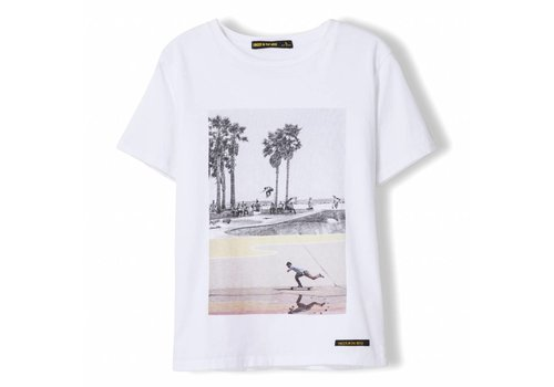 Finger in the nose Dalton White Summer Skate - Boy Knitted Jersey Short Sleeve T-Shirt