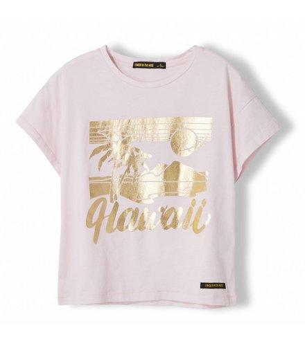 Finger in the nose Drop Vegas Pink Hawaii - Girl Knitted Jersey Short Sleeve T-Shirt