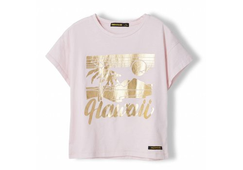 Finger in the nose Drop Vegas Pink Hawaii - Girl Knitted Jersey Short Sleeve T-Shirt