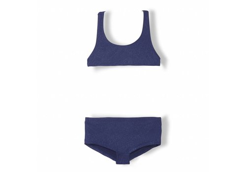 Finger in the nose Elina Blue Metal - Girl Knitted Tank Top Bikini