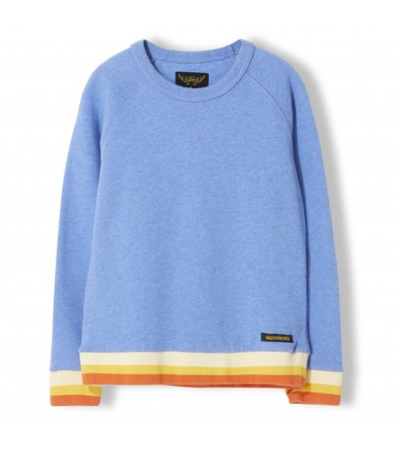 Finger in the nose Hank Heather Vintage Blue - Boy Knitted Crew Neck Sweatshirt