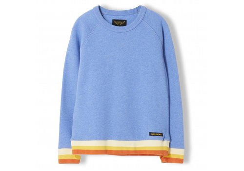 Finger in the nose Hank Heather Vintage Blue - Boy Knitted Crew Neck Sweatshirt