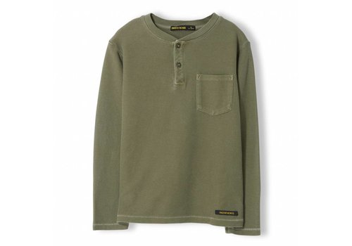 Finger in the nose Randy Khaki - Boy Knitted Tunisian Long Sleeve T-Shirt