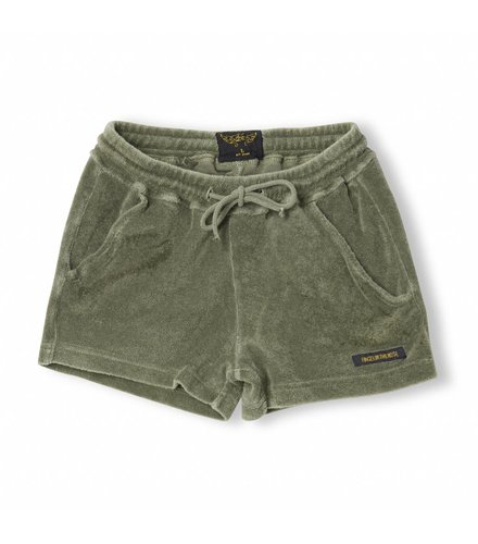 Finger in the nose Trinity Khaki - Girl Knitted Mini Shorts