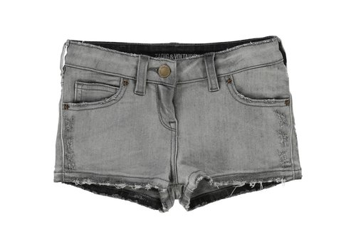 Zadig et Voltaire Kids Short Denim, denim grey