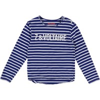 T-Shirt Manches, bleu, blanc