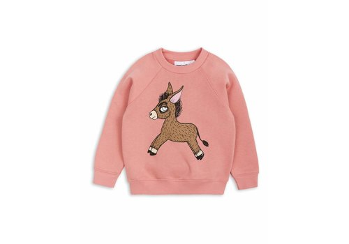 Mini Rodini Donkey Sp Sweatshirt Pink