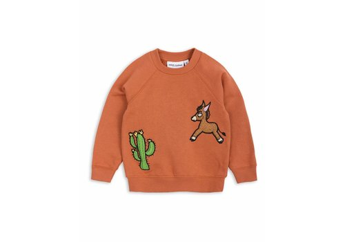Mini Rodini Donkey Cactus Sweatshirt Orange
