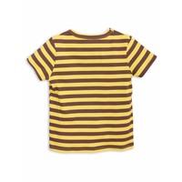 Stripe Rib Ss Tee Yellow