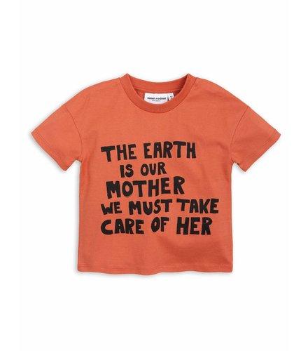 Mini Rodini Mother Earth Ss Tee Orange