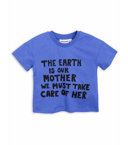Mini Rodini Mother Earth Ss Tee Blue