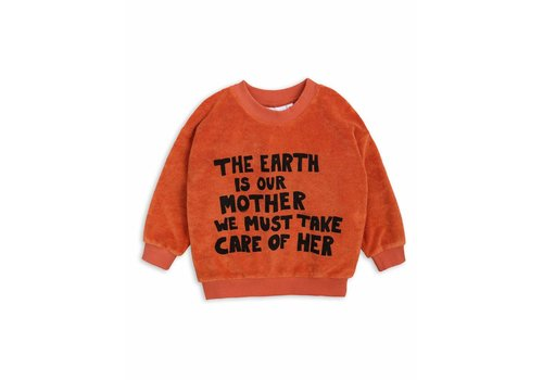 Mini Rodini Mother Earth Terry Sweatshirt Orange