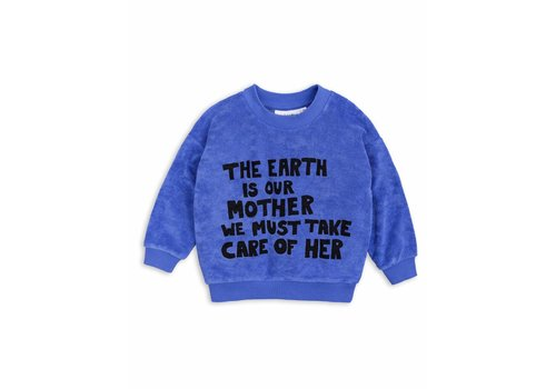 Mini Rodini Mother Earth Terry Sweatshirt Blue