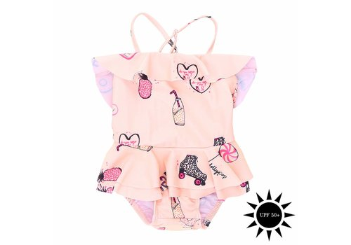Soft Gallery Shirley Swimsuit Rose Cloud, AOP Candy