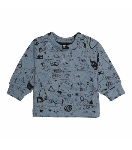 Soft Gallery Alexi Sweatshirt Citadel Black Neppy, AOP Quirky Big