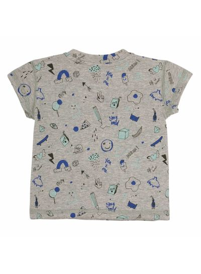 Soft Gallery Baby Ashton T-shirt Grey Melange, AOP Freestyle