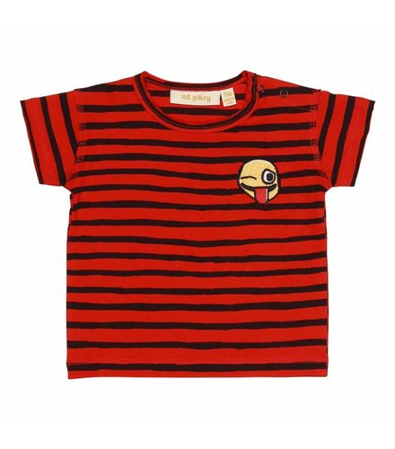 Soft Gallery Baby Ashton T-shirt Flame Scarlet, AOP Ribbon Big